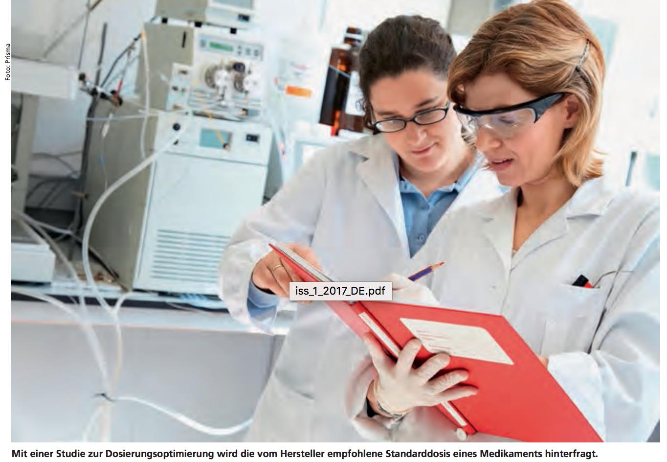 Mit einer Studie zur Dosierungsoptimierung wird die vom Hersteller empfohlene Standarddosis eines Medikaments hinterfragt.