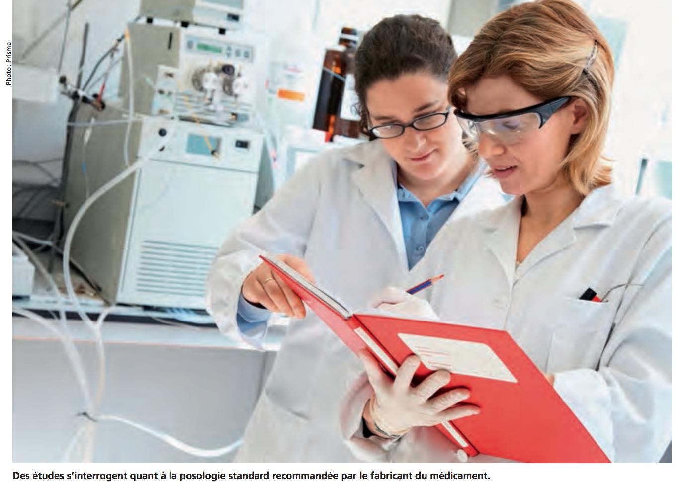 Des études s'interrogent quant à la posologie standard recommandée par le fabricant du médicament.