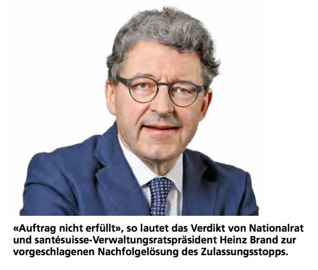 Heinz Brand, Nationalrat und santésuisse-Verwaltungsratspräsident