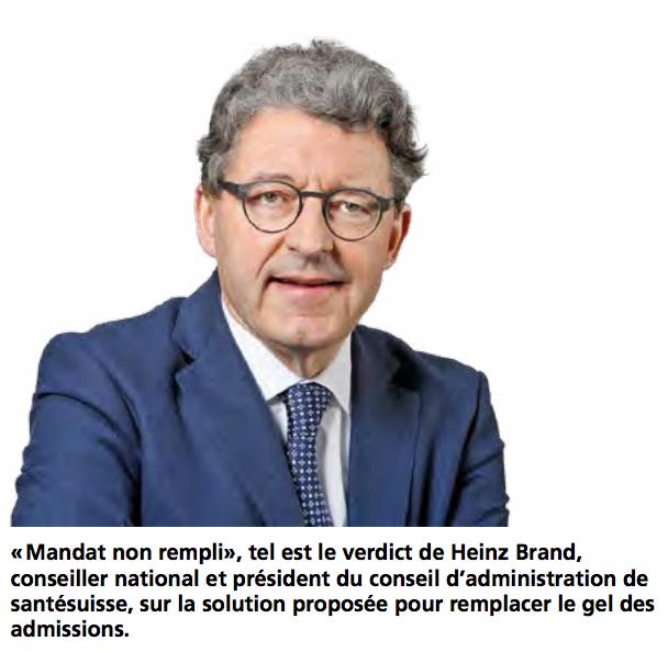Heinz Brand, conseiller national et président du conseil d'administration de santésuisse