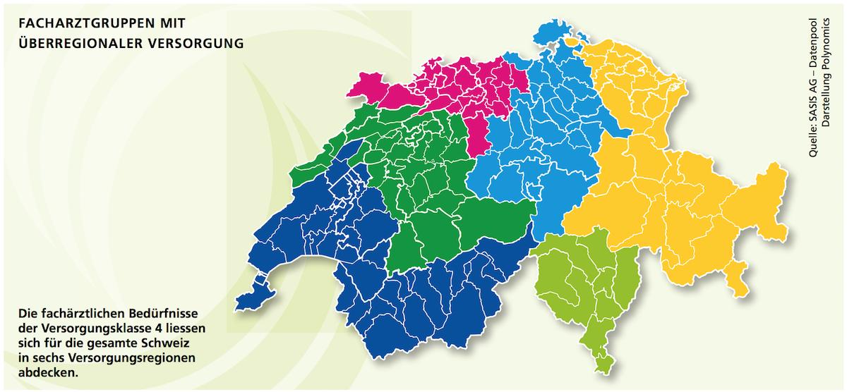 Facharztgruppen mit überregionaler Versorgung